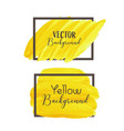 yellow brush stroke isolated on white background vector image vector image
