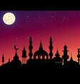 beautiful silhouette arabic vector image