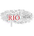rio word cloud concept vector image