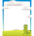 A chameleon standing on a field vector image vector image