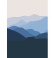 abstract mountains minimalist poster vector image vector image