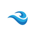 abstract wave business logo vector image