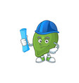 architect lime fresh cute for cartoon mascot vector image vector image