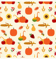 autumn harvest pattern vector image vector image