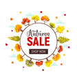 autumn sale poster vector image vector image