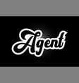 black and white agent hand written word text for vector image vector image