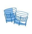 brazilian samba batucada drum instrument music vector image vector image