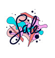 bright colorful poster sale with splashes modern vector image