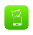 broken phone icon digital green vector image vector image