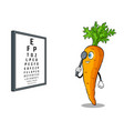 carrot check vision pop art vector image vector image