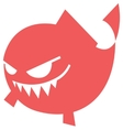 Cartoon Angry fish icon vector image