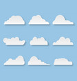 cartoon messages in form clouds on blue vector image vector image