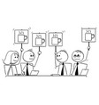 cartoon of business team or people meeting voting vector image vector image