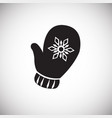 christmas mitten on white background vector image