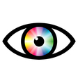 Color swatch eye vector image