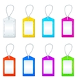 color tags with ropes set vector image vector image