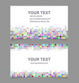 Colorful mosaic business card template design vector image vector image