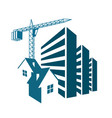 construction and sale of housing vector image vector image