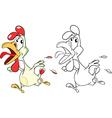 Cute Cockerel Cartoon Character vector image vector image