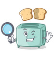 detective toaster character cartoon style vector image vector image