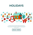 digital merry christmas and new year vector image vector image