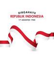 dirgahayu republik indonesia design for banner vector image vector image