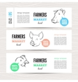 Farmers banner with animals vector image vector image