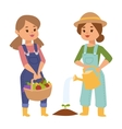 Farmers people characters vector image vector image