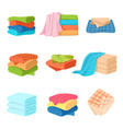 folded towel soft fashion fabric cotton color vector image vector image