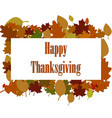 happy thanksgiving sticker tag or label beautiful vector image