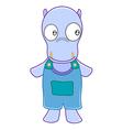 Hippopotamus cartoon vector image vector image