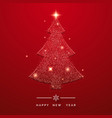 holiday background with glittering christmas tree vector image vector image