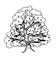 Hollow tree vector image vector image