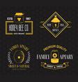 honey and beekeeping vintage logo set vector image vector image