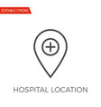 hospital location icon vector image vector image