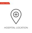 hospital location icon vector image