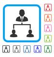 human hierarchy framed icon vector image vector image