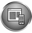 icon online vector image vector image