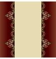 Invitation card with islamic decor vector image