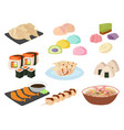 japan food traditional meal cooking culture vector image vector image