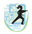 Karate girl design vector image