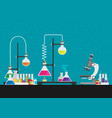 laboratory equipment biology science education vector image