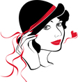 lady in love vector image