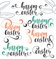 Lettering calligraphy set Happy easter vector image vector image