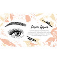 make up artist business card template banner for vector image vector image
