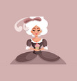 marie antoinette holding a cupcake cartoon vector image vector image