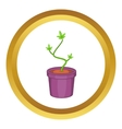 Marijuana in flower pot icon vector image vector image