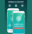 mobile user interface concept vector image vector image