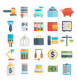 modern design flat icon set style of financial vector image vector image