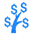 money tree grunge icon vector image